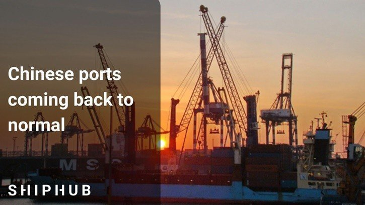 Chinese ports coming back to normal