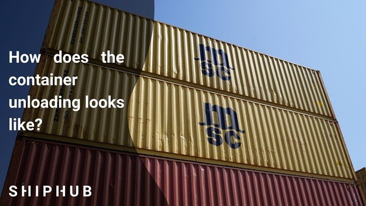 How does the container unloading looks like?