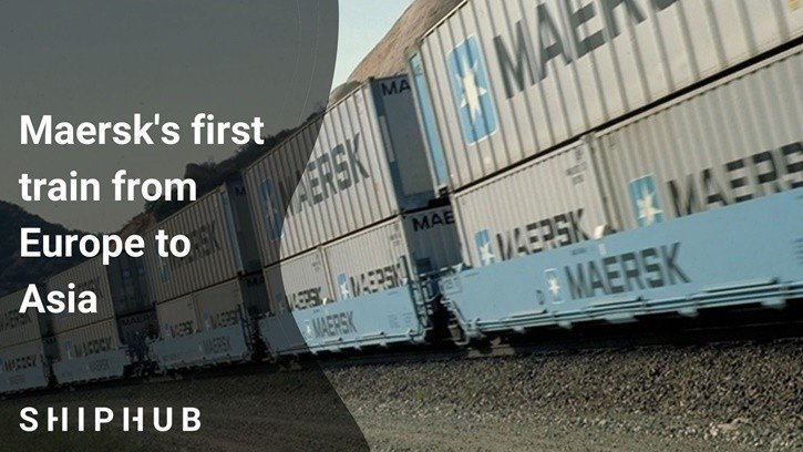 Maersk's first train from Europe to Asia