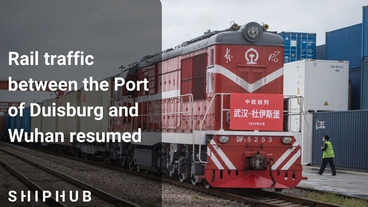 Rail traffic between the Port of Duisburg and Wuhan resumed