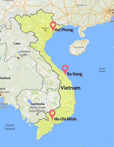 Major ports in Vietnam