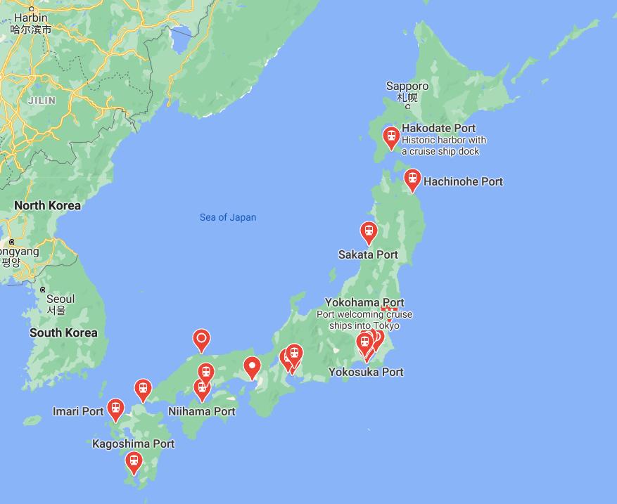 Ports in Japan