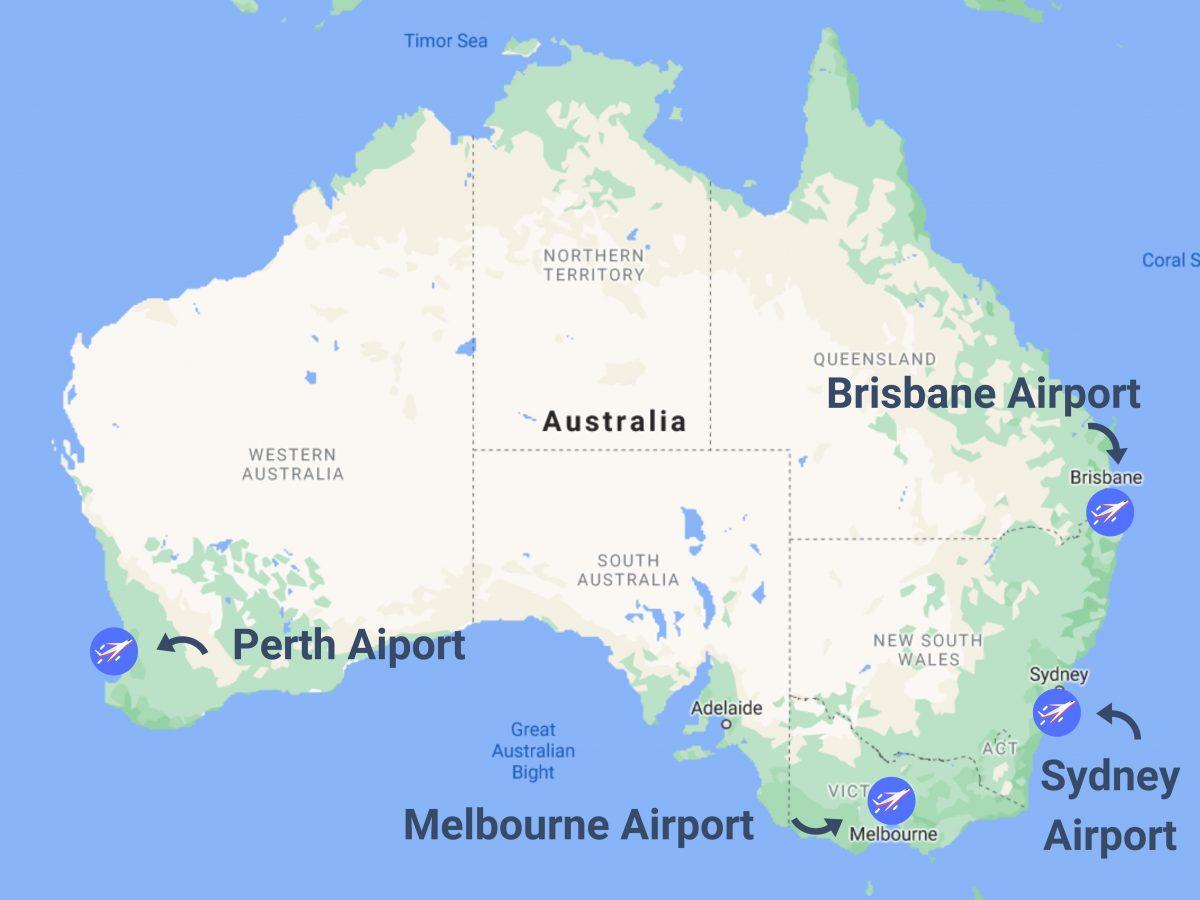 Airports in Australia