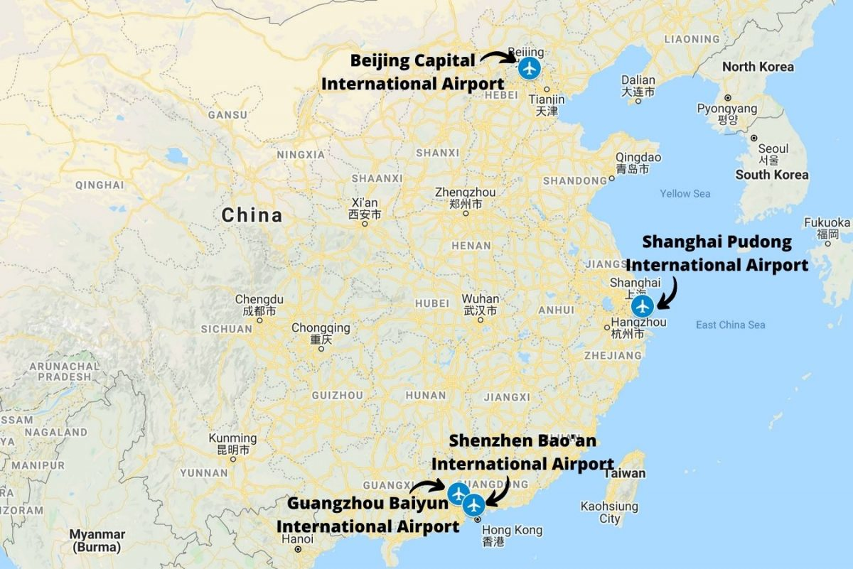 Airports in China