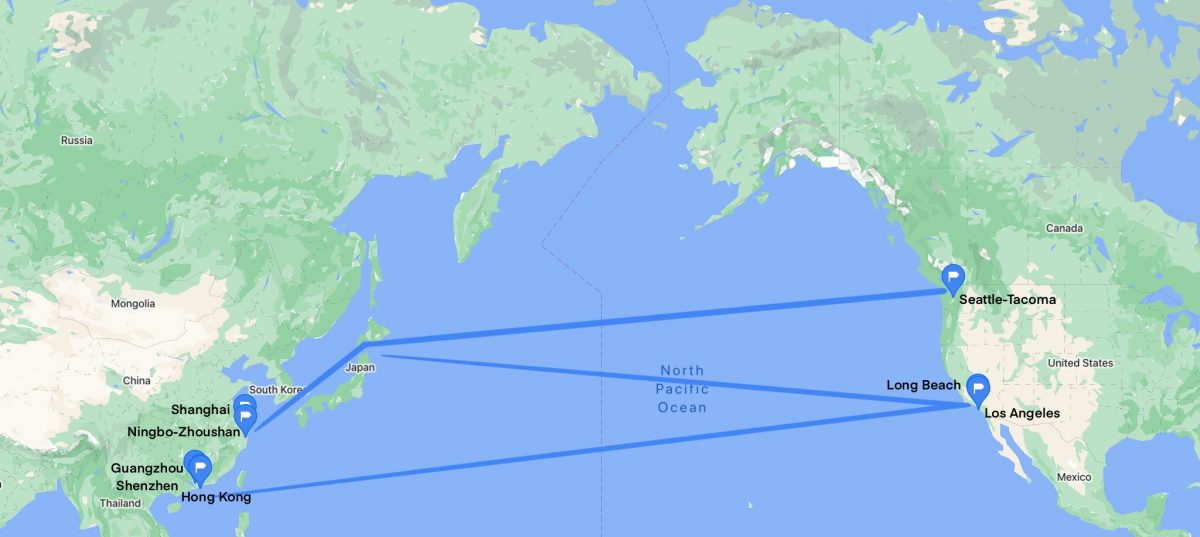 Ocean freight from China to the US