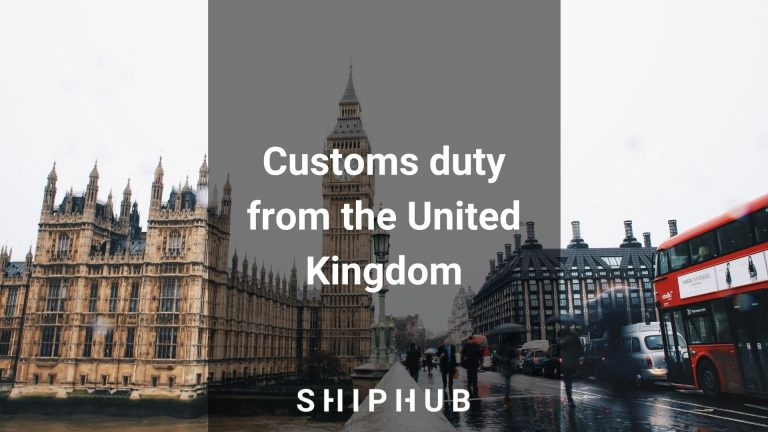 Customs duty from the United Kingdom