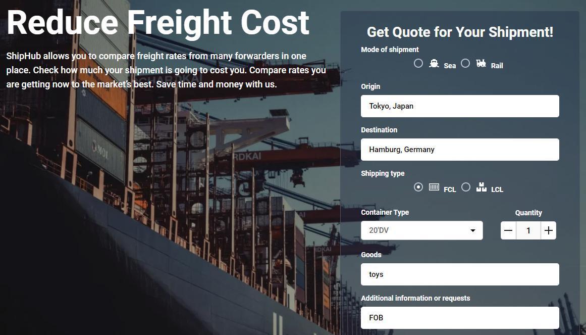 Shipment quotation