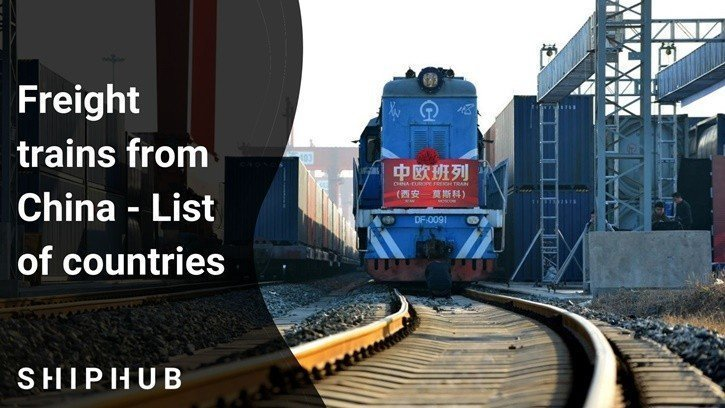 Freight Trains from China - list of countries