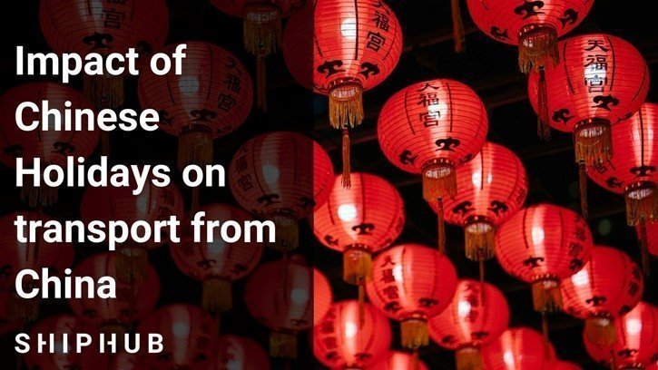 Impact of Chinese holidays on transport from China