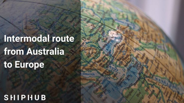Intermodal route from Australia to Europe