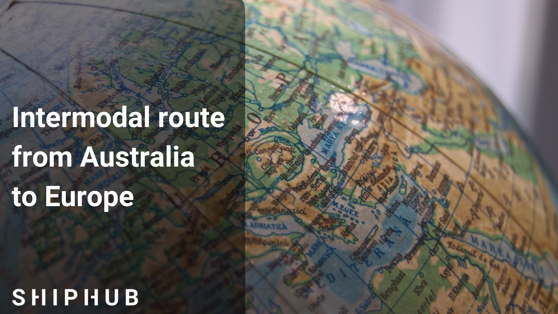 Intermodal route from Australia to Europe