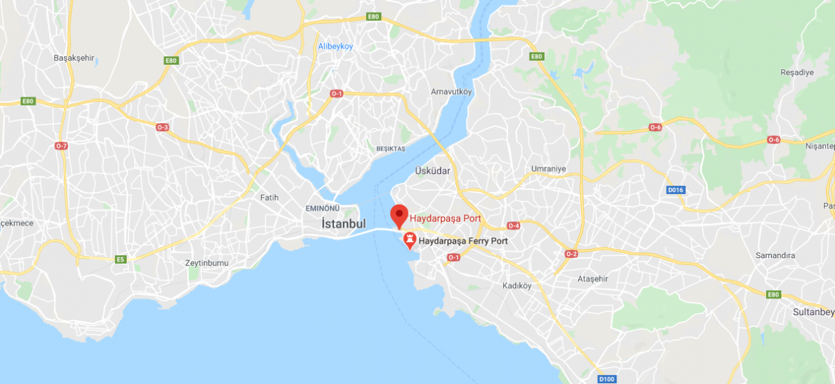 the Port of Istanbul map