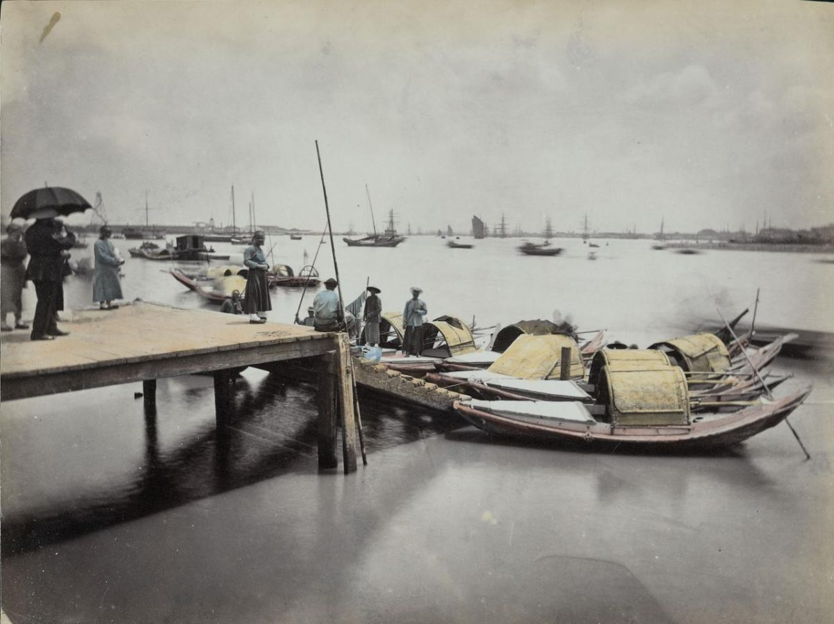 The Port of Shanghai in 19th century
