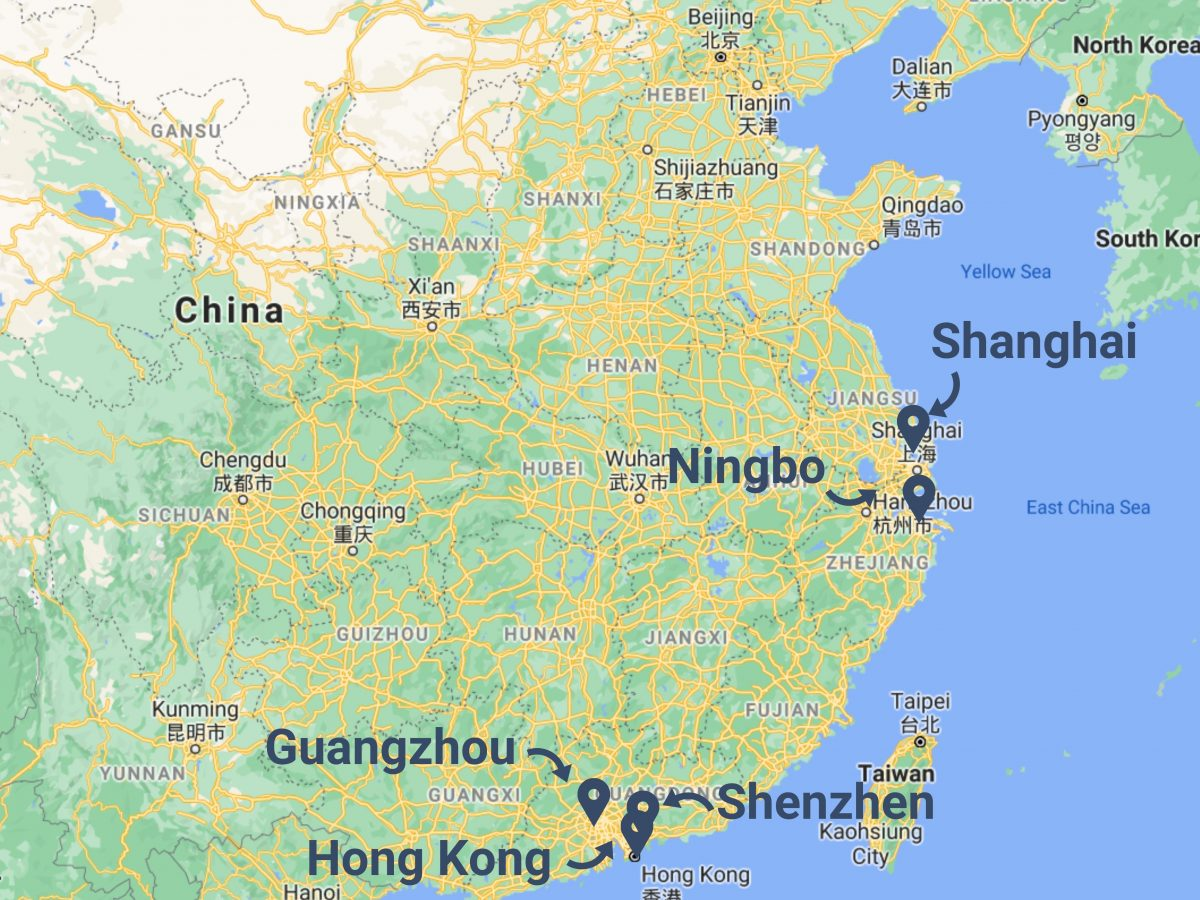 Shipping from China to Australia - Seaports in China