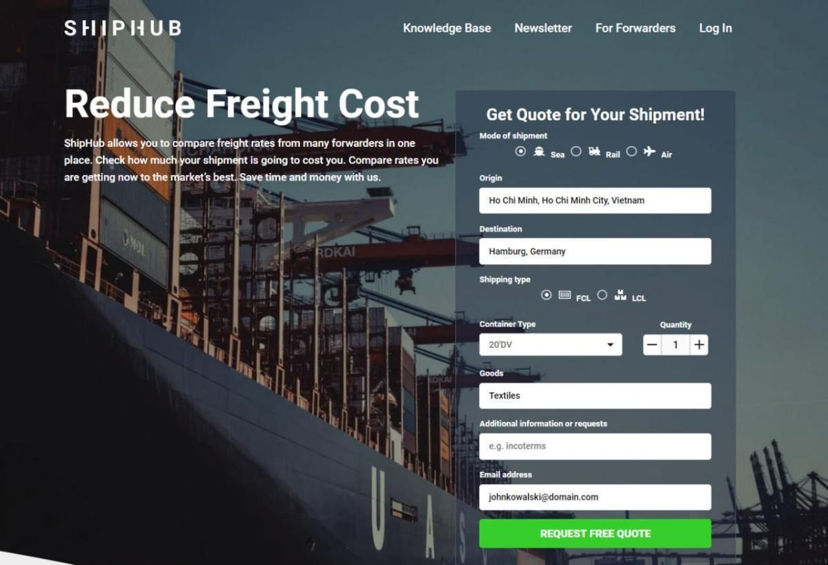 Shipping from Vietnam to Europe and the USA ShipHub