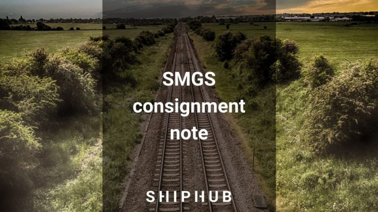 SMGS consignment note