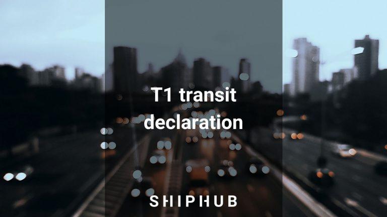 T1 declaration transit