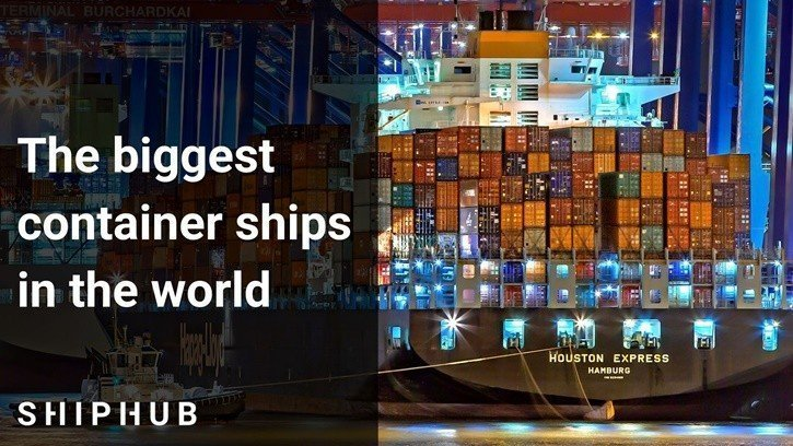 The biggest container ships in the world