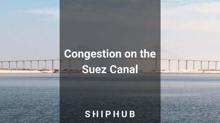 The Suez Canal blocked by the container ship Ever Given