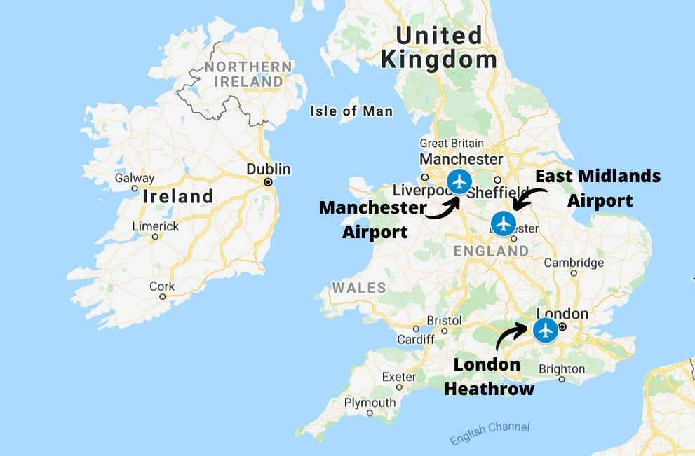 Main cargo airports in the UK